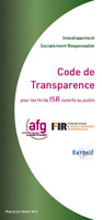 Code Transparence AFG FIR Eurosif 2013