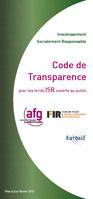 Code Transparence AFG FIR Eurosif 2013